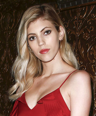 Devon Windor Is the Ultimate Red Dress Emoji in This Sultry Dress