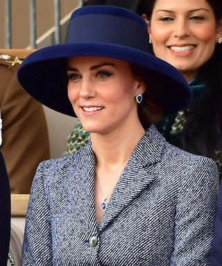 Kate Middleton Reworks a Favourite Coat with a Glorious Blue Hat