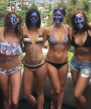 The $69 Blue Face Mask Nina Dobrev & Friends Partied in This Weekend