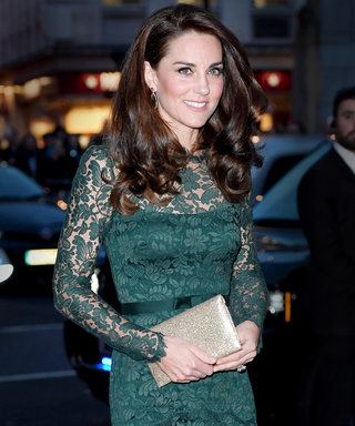 We Can't Stop Staring at Kate Middleton's Totally Unexpected Green Lace Dress