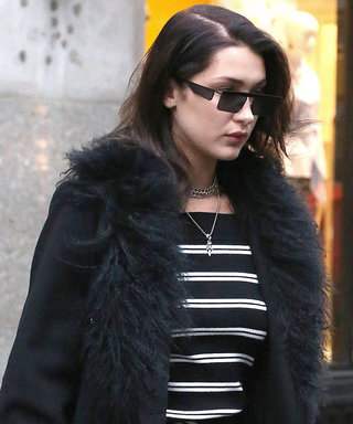 Bella Hadid's Feathered Duster Coat is Peak '90s Fashion at Its Best