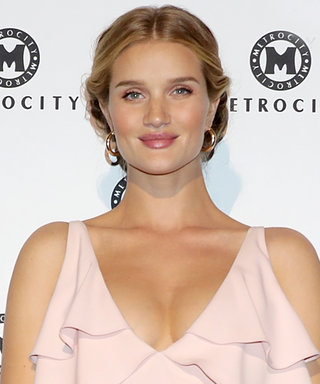 Pregnant Rosie Huntington-Whiteley Looks Prettier Than Ever in Pale Pink