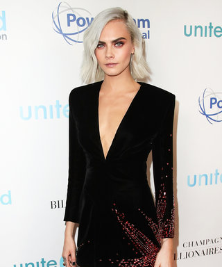 We Can't Stop Staring at Cara Delevingne's Velvet Mini