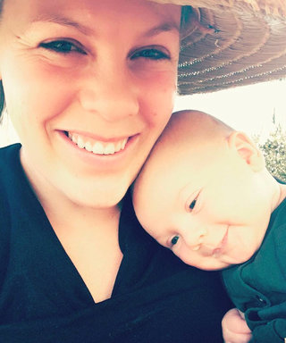 Pink Shares Mid-Hike Breastfeeding Selfie with Baby Jameson