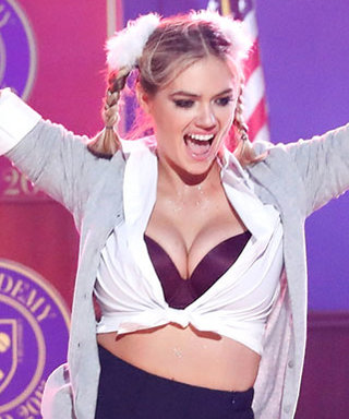 Kate Upton Borrows Britney Spears's Schoolgirl Outfit for Lip Sync Battle