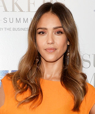 Jessica Alba's Glowed in a Pop of Bright Orange
