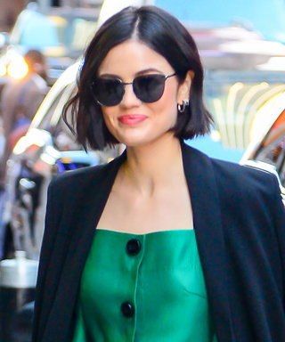 You Have to See Lucy Hale Win in This Little Green Dress