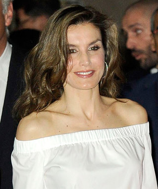 Queen Letizia Demos How a Royal Does Off-the-Shoulder Dressing