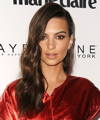 Emily Ratajkowski Is Red Hot in This Metallic Mini