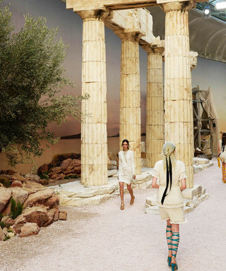 Karl Lagerfeld Channels Ancient Greece for the Chanel Cruise Runway