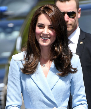 Kate Middleton Channels Cinderella in a Feminine Baby Blue Coat