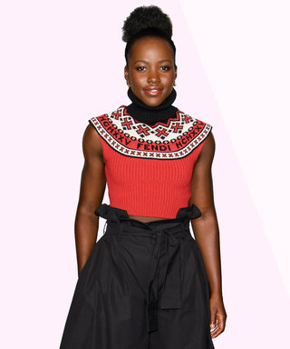 How to Wear Paper-Bag-Waist Pants to a Formal Event, According to Lupita