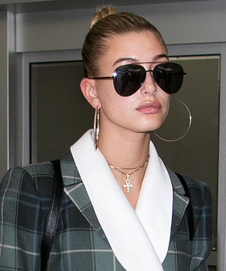 We're Obsessed With Hailey Baldwin's Menswear Mini