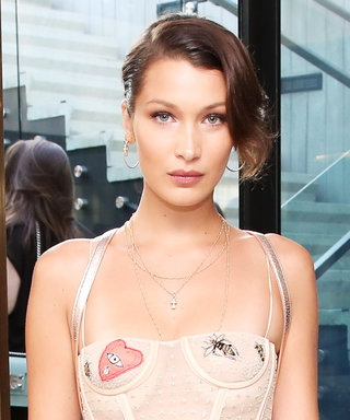 Bella Hadid's Sheer Dior Mini = Sweet and Sexy