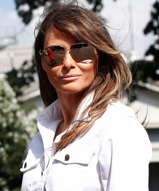 Melania Trump Goes Casual in a Pair of Olive Green Jeans