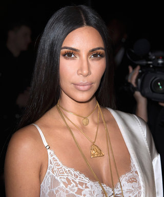 Kim Kardashian West Literally Glows in a See-Through Bedazzled Jumpsuit