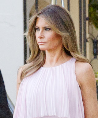 Melania Trump Goes Formal in Pink J. Mendel at a Washington D.C. Wedding