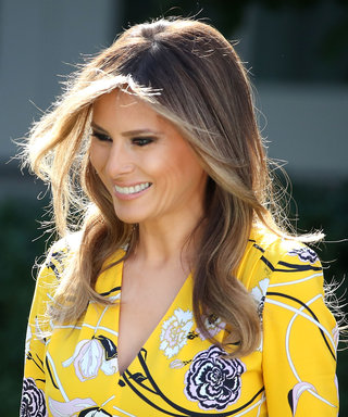 Melania Trump Wears Emilio Pucci to Greet India's Prime Minister