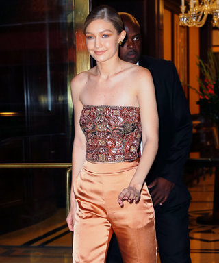 Gigi Hadid Is Here With a Luxe Tube Top