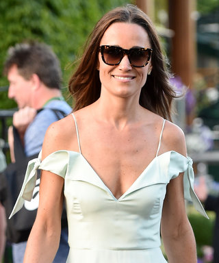 Pippa Middleton Has That Newlywed Glow in an Off-the-Shoulder Dress at Wimbledon