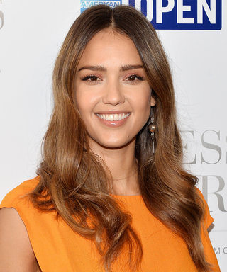 Jessica Alba Flaunts Her Baby Bump in a Plunging Tory Burch Cover-Up