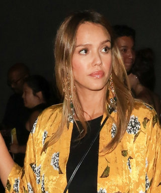Jessica Alba's Yellow Duster for Date Night Is a Maternity Style Win
