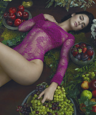 Kendall Strips Down to Lace Skivvies in a Secret Garden