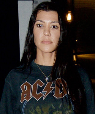 Kourtney Kardashian Ironically Wore an ACDC Highway to Hell Concert Tee to Church