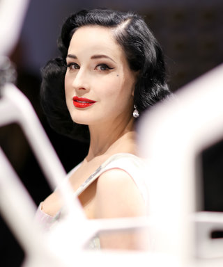 Dita von Teese Stepped Out to Fête Caviar at This Lavish Art Exhibition