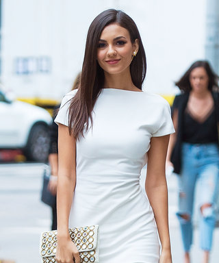 Victoria Justice Wore a Minidress over Pants (and Made It Work)