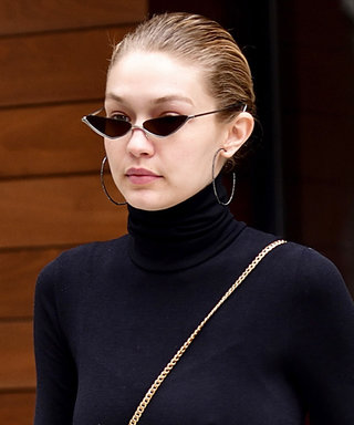Gigi Hadid in Swishy '90s Track Pants Is Fashun