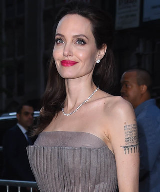 Angelina Jolie Went to a Movie Premiere with Her Kid's Pee on Her Dress
