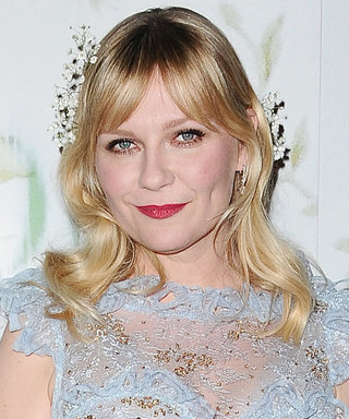Kirsten Dunst Is Legit Wearing Baby's Breath for a Stole