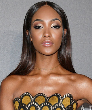 We're So in Love with Jourdan Dunn in This Gold Beaded Gown