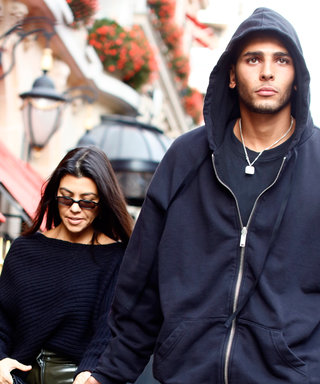 Kourtney Kardashian and Younes Bendjima Are Total Teenagers Kissing in the Bleachers