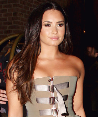 Demi Lovato Wore a Dress with Seat Belts on It