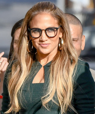 J.Lo Makes the Case for Retro Spectacles in a Curve-Flaunting Emerald Number