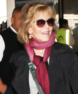 Jane Fonda Graces Airport Travelers with Her Presence After PFW