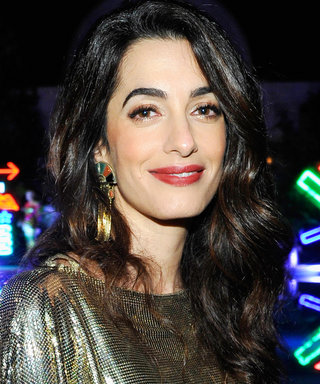 Amal Clooney Hits an L.A. Party in Head-to-Toe Gold