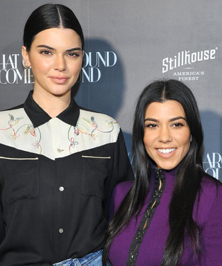 Kourtney Kardashian and Kendall Jenner Stun During a Stylish Sisters' Night Out