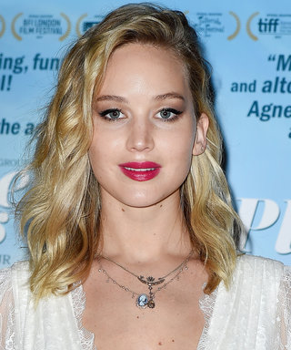 Jennifer Lawrence Wore a Plunging Wedding Gown to a Movie Premiere