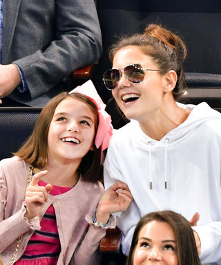 Katie Holmes and Suri Cruise Have the Sweetest Mother-Daughter Hockey Date