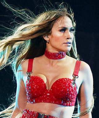 Jennifer Lopez Sizzles in Red Latex at Her Brooklyn Charity Concert
