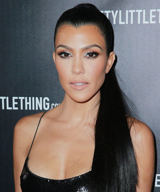 Kourtney Kardashian Wore a $45 Sequin LBD to Launch Her Pretty Little Thing Collaboration