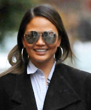 Chrissy Teigen Turned Getting Caught in the Rain into a Chic Fashion Moment