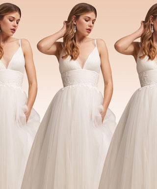 9 '80s-Inspired Wedding Dresses for the Bride Who Loves Pretty in Pink