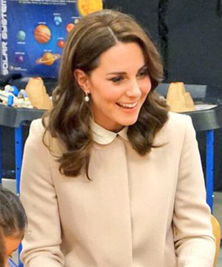 Pregnant Kate Middleton Wore a $790 Blush Coat to Play with Toddlers