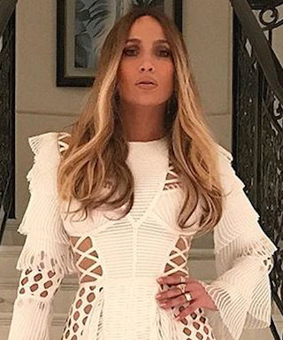 Jennifer Lopez Shut Instagram Down in a Dress with Hundreds of Holes