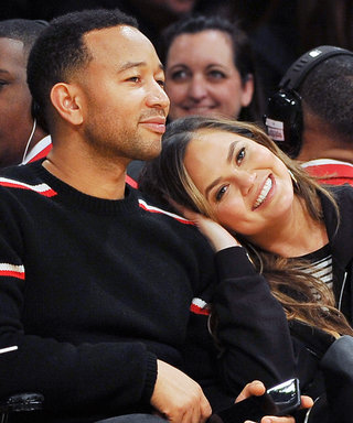 John Legend and Chrissy Teigen Pile On the PDA During a Courtside Date Night