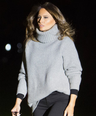 Melania Trump Looks Laid-Back in $470 Acne Turtleneck and Skinny Jeans